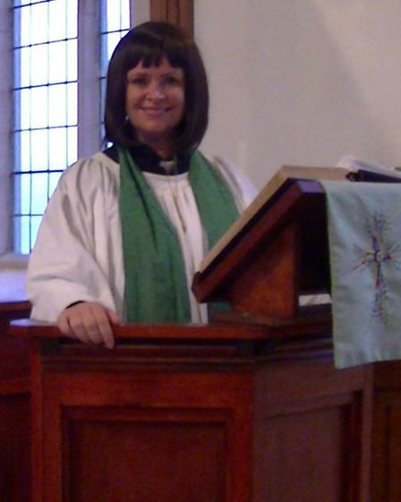 Agnes Lillis as The Vicar of Dibley, staged by the Seagull Rep