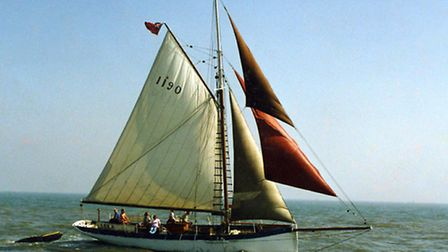 Yacht Leila restored in Southwold; Leila sailing