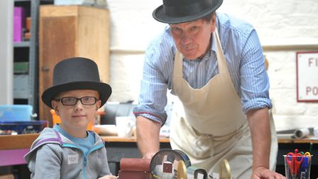 Children and families were invited along to The Leiston Longshop for a day of Amazing Machines. Kyr