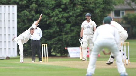 Action at the Victory Ground between Bury St Edmunds and Horsford