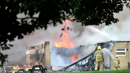 More than 30 firefighters tackled a blaze at The John Ray County Primary School in Braintree at 16:4