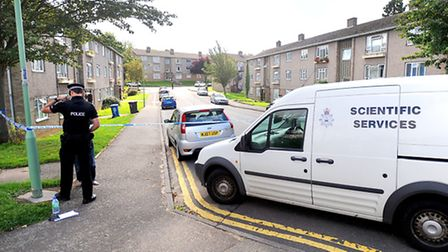 Police cordoned off Cavendish Way, in Sudbury, after the stabbing incident on Thursday.
