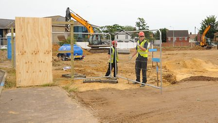 Work starts on the multi-million pound Essex and Suffolk Water HQ at Lowestoft.