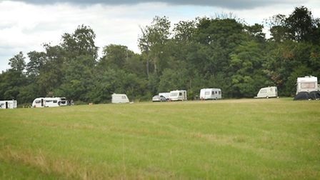 Travellers havenow moved from a field in Symonds Road in Bury St Edmunds.