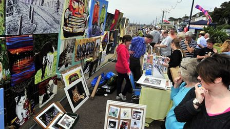Art on the Prom is taking place on September 1 at Felixstowe.