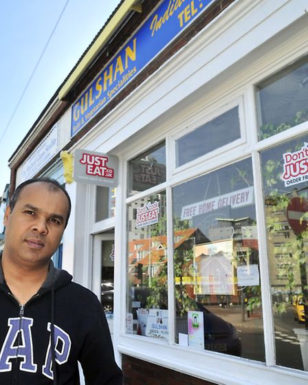 Mr Aklasur Rahman of Gulshan restaurant, Ipswich, is very angry that his business has been repeatedl