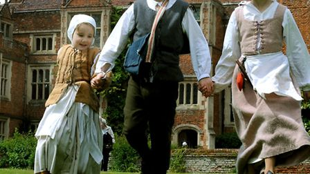 Back in time at Kentwell Hall at the weekend when Tudors celebrated Midsummer in the year 1559. Tudo