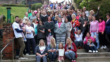 Fundraisers gather for the sponsored walk in aid of Sands
