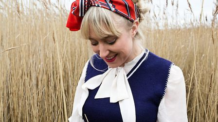 Gwyneth Herbert, pictured in the reed beds, who is appearing at the Snape Proms with her Sea Cabinet