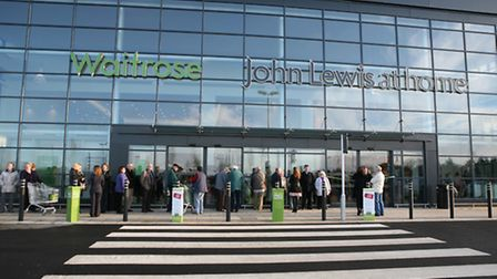 The John Lewis at home and Waitrose stores in Ipswich.