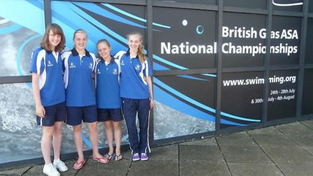 Becky Sherwin, Lucy Oxbrow, Emily Dowding and Cara Hetherington.