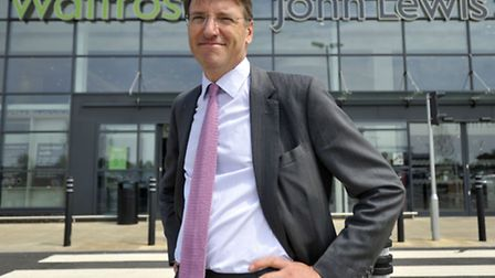 John Lewis Partnership chairman Sir Charlie Mayfield during a visit to the Ipswich Waitrose and John