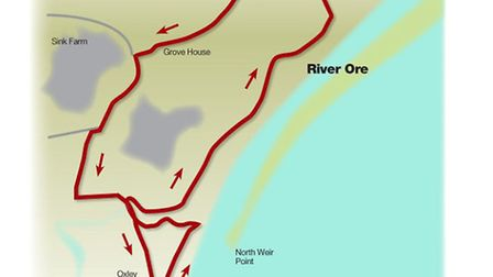 Route of the river views and coastal wildlife walk