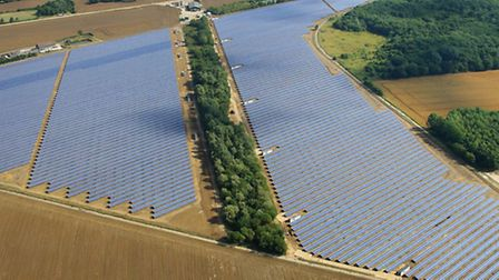 The solar farm at Parham. Photo by Mike Page.