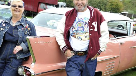 Kim and Neil Maddison brought their 1958 Cadillac to the Clacton Classic Car Club's biannual show in