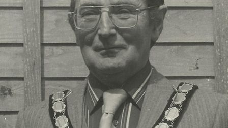 Ron Pattle when he was Stowmarket town mayor in 1985