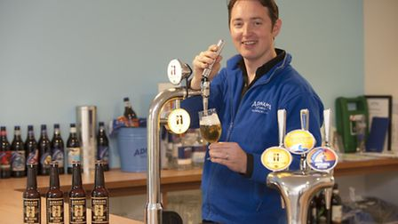 Fergus Fitzgerald, head brewer at Adnams, with the new Jack Brand Dry Hopped Lager.