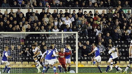 Craig Bryson's equaliser for Derby bringing the home team level after being three goals behind again