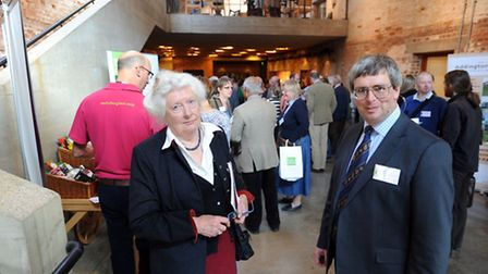 The Food and Drink conference at Snape Maltings. Lady Caroline Cranbrook and Martin Collison (Centre
