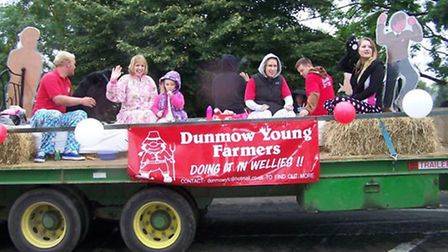 Essex Young Farmers column a float at Dunmow carnival