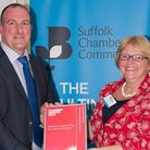 Mark Groves, commercial services manager at Suffolk Chamber of Commerce, and Sarah Sharlott, chief e