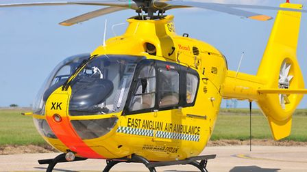 The East Anglian Air Ambulance helicopter