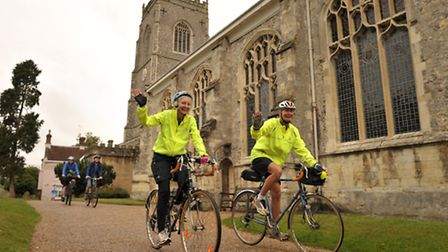 A group of riders started from St Michaels Church in Framlingham.