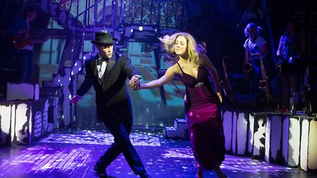 Alexis Gerred and Daniella Bowen stepping out in Our House,at the New Wolsey Theatre