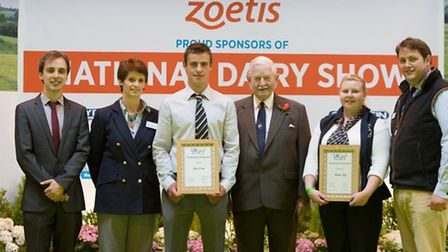 Young Jersey Travel Schene winners, Andrea Vale, fifth from left