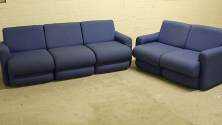The sofas up for auction,, sat on by the likes of Bono and The Edge of U2, Grace Jones and Bob Marle