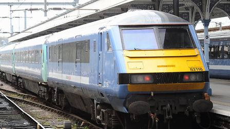 A Greater Anglia train on the Norwich to London line