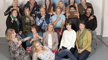 The cast of Sex and the Village which is on at the Theatre Royal in Bury St Edmunds from November 5