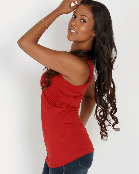 Jellyna Moore from Ipswich who has reached the semi-final of the Miss England competition.