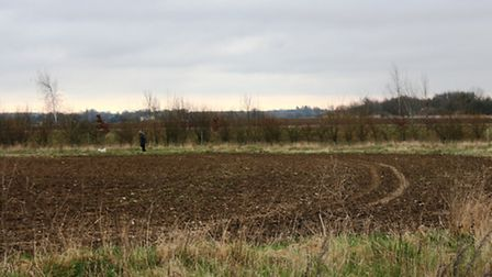 Part of the site that is earmarked for the new Chilton Woods development near Sudbury