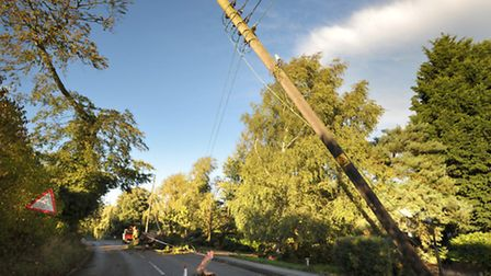 Trees brought down power lines during St Jude's storm.