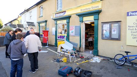 Glemsford Post Office has been ram raided in the early hours of yesterday morning. A cash machine ha