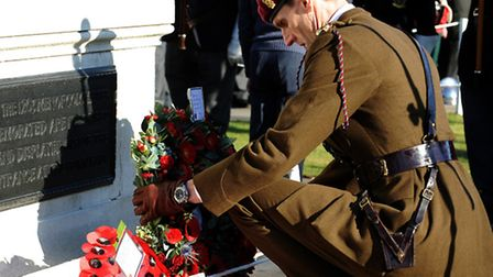 Troops from 16 Air Assault Brigade joined communities to mark Remembrance Sunday last year.