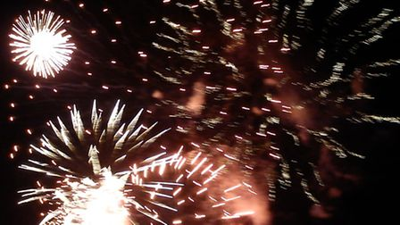 Fireworks at Christchurch Park, Ipswich - by Alison Connors