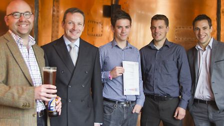 From left, Richard Carter, Adnams retail management accountant, Greg Luxford, Adapt Low Carbon Group
