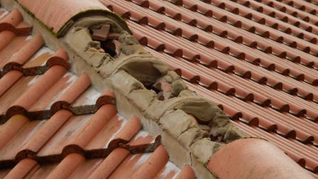 Missing roof tiles - by Janice Poulson