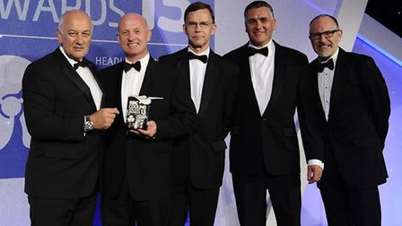 The GAH Refrigeration team collect the Refrigeration Innovation of the Year trophy at the RAC Cooli