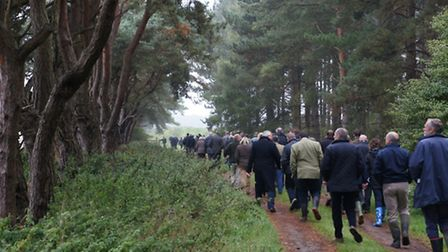Visitors take a stroll around the estate as Elveden Farms becomes a LEAF demonstration farm