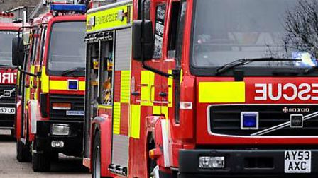 A car fire was put out in Bungay