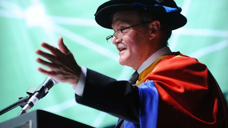 Mick Mills received an honorary doctorate from UCS