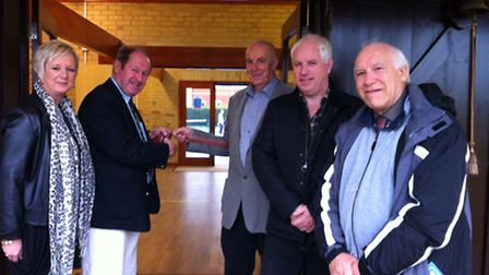 Police and crime commissioner Tim Passmore opened the �200,000 pavillion at Kesgrave Community and S