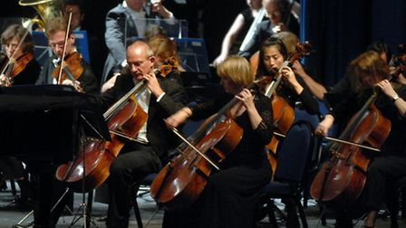 The Royal Philharmonic Orchestra on stage at the Regent Theatre Ipswich