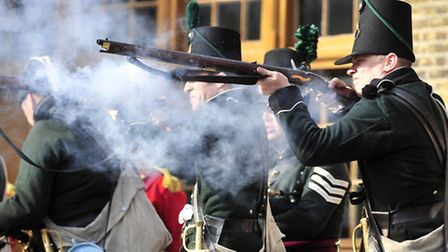 Historical re-enactment weekend with the 95th Rifles at Landguard Fort, Felixstowe