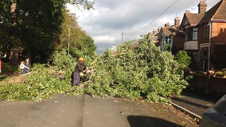 The resident of Clapgate Lane in Ipswich have joined together to get the road clear in the wake of t