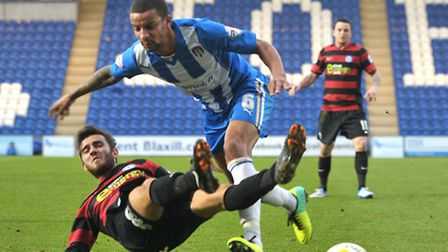 Craig Eastmond in action during the U's 1-0 win over Peterborough on Saturday