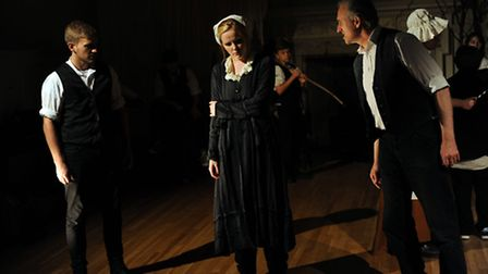 Rehearsals of Common Ground play Harriet Walker at the Guildhall in Bury.
